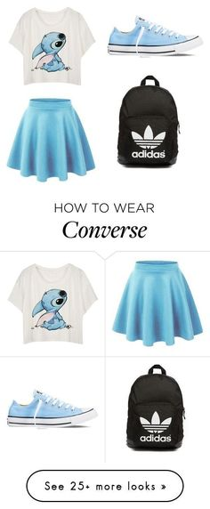 featuring Converse and adidas Originals Teenage Outfits, Teen Fashion Outfits, Disney Outfits, Outfits For Teens, Summer Outfits, Girl Outfits, Womens Fashion, Dress Fashion, Blue Outfits