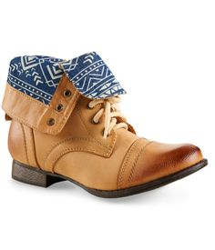 Fold-Over Combat Boot from Aeropostale