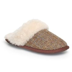 """My favourite ever slippers - so soft and thickly padded it's a job to get your toes in amongst the squashy depths. These slippers should come with a warning. I walked the dog earlier, and as I slipped the wellies on I distinctly felt the disgusted shockwave in my brain. """"What the hell did I call THIS?"""" my sheepskin-accustomed toes cried. The Harris Tweed version of the Ladies Duchess Sheepskin Slipper have the thickest luxury Sheepskin and a Slip Resistant Sole. Gorgeous, just gorgeous."""