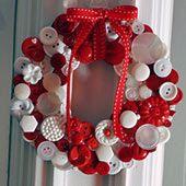 Button Wreath ornament More