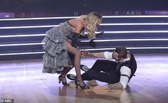 Dancer down: Artem fell to the floor in disbelief when they were named the winners Artem Chigvintsev, Kaitlyn Bristowe, Dancing With The Stars, Dancer
