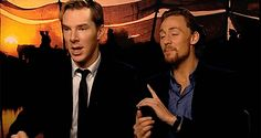 adorable gif in which I fall back in love with Benedict.. ALSO I WILL NEVER CHOOSE WHY WOULD THEY ASK SUCH A THING??