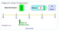 "In ""Match the Fraction"" by MathIsFun.com, students match the fraction to its place on the number line."
