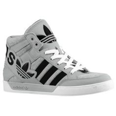 adidas Originals Hard Court Hi Big Logo - Men's - Sport Inspired - Shoes - Medium Grey Heather/Black/Aluminum