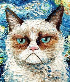 Grumpy cat paint