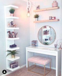 8 Effortless DIY Ideas To Organize Makeup According To Your .- 8 Effortless DIY Ideas To Organize Makeup According To Your Personality Type. M… 8 Effortless DIY Ideas To Organize Makeup According To Your Personality Type. My New Room, My Room, Room Art, Home Design, Interior Design, Design Ideas, Diy Design, Storage Design, Decoration Design