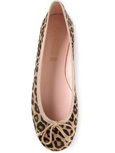 Leopard Print Ballerina Flats