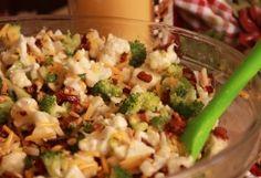 Broccoli, Bacon, Cauliflower Salad :: Ohio Amish Country Recipes