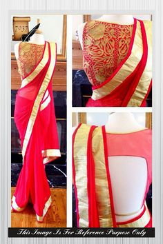 Red With  Bollywood Sarees Online ,Veeshack.com | Fashion for the World - 1