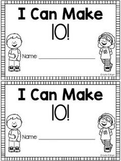 FREE! Making Ten Mini-Book