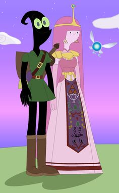 Nergal And Princess Bubblegum In The Legend Of Zelda Cartoon Network 2016