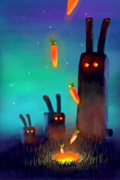 Carrots by Goro Fujita