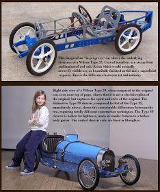 Just A Car Guy : Jim Wilson made incredibly good Bugatti type 35 pedal cars - Auto - Design de Carros e Motocicletas Bugatti, Buggy, Soap Box Derby Cars, Diy Go Kart, Karts, Go Car, Pedal Cars, Cars Auto, Kids Ride On