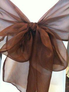 Organza wedding bow in rich espresso Mocha, Wedding Bows, Gold Wedding, Wedding Colors, Wedding Ceremony, Wedding Ideas, Brown Eyed Girls, Little Brown, Glamour
