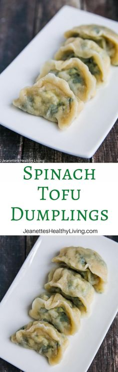 high in protein and iron. Perfect for lunch appetizer or dinner. Meat Appetizers, Appetizers For Party, Appetizer Recipes, How To Cook Dumplings, Chinese Dumplings, Lunch Recipes, Vegetarian Recipes, Tofu Recipes, Protein Recipes
