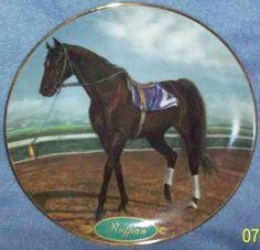 "Danbury Mint horse plate ""Ruffian"" by Susie Morton"