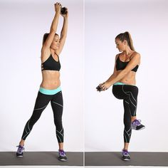 Instantly Feel the Burn With This 4-Minute Arm and Ab Workout: Kick your ab workout up a notch by adding weights, and you'll work your upper body at the same time.