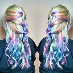 ✨Pastel opal hair✨ #unicorntribe #pravana #lpweeklydo #beautylaunchpad #modernsalon #americansalon #pastelrainbowhair #pastelhair #dyedgirlies #dyedgirls #dyeddollies #1000orbust #btcpics #mermaidians #mermaidhair #1minutehair #hairaddiction #hairstyles #moringaplex #butterflyloftsalon #pulpriothair #btconeshot_rainbow16