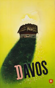 1942 Davos,Switzerland vintage travel poster