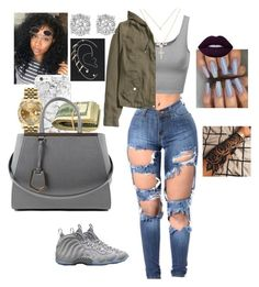 """Untitled # 13 ☀"" by neka3170 on Polyvore featuring H&M, Sydney Evan, NIKE, Rolex, Effy Jewelry, Lime Crime, Topshop and Fendi"