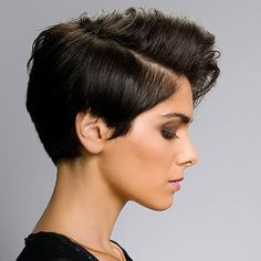 Give your basic bob some edge by exaggerating the volume with a deep side part.