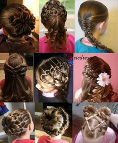 they look young enough to be flower girls but even brides could use some of these hair styles <3