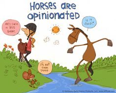 Horses are opinionated. ©Kentucky Performance Products, LLC #horses
