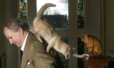 Alexander McCall Smith and his cat