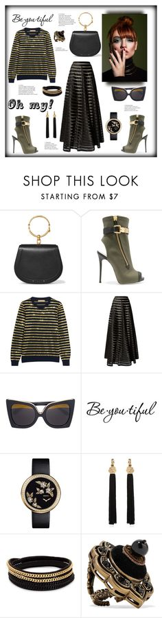 """Oh my!!!"" by zabead ❤ liked on Polyvore featuring Chloé, Giuseppe Zanotti, Michael Kors, Temperley London, Linda Farrow, Schone, Chanel, Yves Saint Laurent, Vita Fede and Gucci"