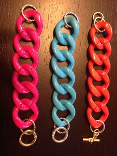Bracciale con maglie in resina vari colori - Gioielli - Bracciali e... | su MissHobby