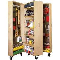 Ted's Woodworking Plans - Mobile Tool Cabinet Woodworking Plan from WOOD Magazine - Get A Lifetime Of Project Ideas & Inspiration! Step By Step Woodworking Plans Wood Storage, Garage Storage, Camper Storage, Storage Boxes, Cabinet Storage, Craft Storage, Small Garage Organization, Recycling Storage, Storage Room