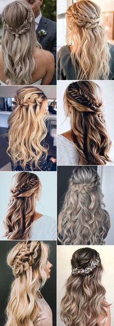 98 Best Half-up Wedding Hairstyles with Braids, 32 Wedding Hairstyles for Long Hair You Ll Want to Copy, 39 Braided Wedding Hair Ideas You Will Love, Hairstyles for Weddings Half Up Fashion Half Up Wedding, Half Up Half Down Bridal Hair Ideas to Copy now. Half Up Wedding Hair, Wedding Hairstyles Half Up Half Down, Wedding Hairstyles For Long Hair, Box Braids Hairstyles, Loose Hairstyles, Wedding Hair And Makeup, Bride Hairstyles, Bridal Hair, Half Braided Hairstyles