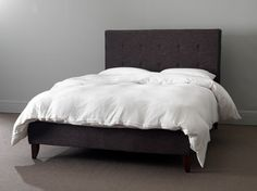 Poppy Bedstead in Liquorice - contemporary - Beds - London - Button & Sprung