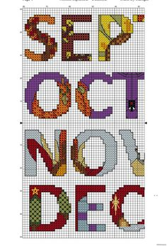 Months September to December - Free Cross Stitch Pattern!