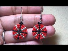 Ladybug Beaded Earring Tutorial DIY - YouTube