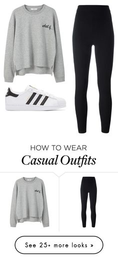 """Casual"" by xkidinthedarkx on Polyvore featuring MANGO and adidas Originals"