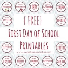 First Day of School Collage by lovebakesgoodcakes, via Flickr