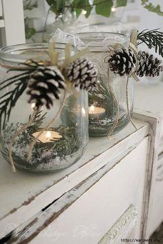Christmas candles home decor