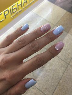 cute nail art designs for short nails 2019 page 17 Cute Nail Art Designs, Colorful Nail Designs, Gel Polish Designs, Spring Nails, Summer Nails, Blue Nails, My Nails, Nagel Gel, Perfect Nails