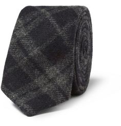 Alexander OlchPlaid Woven-Wool Tie