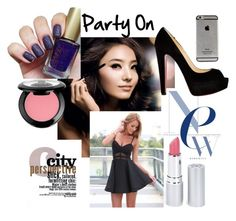 """""""Party On"""" by wolverinegirl ❤ liked on Polyvore featuring Christian Louboutin, HoneyBee Gardens and NYX"""
