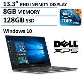 """#10: 2016 Newest Dell XPS 13 High Performance Laptop with 13.3"""" FHD IPS Infinity Borderless Display Intel Core i5-6200U Processor 8GB RAM 128GB SSD 11 hours battery life Backlit Keyboard Windows 10"""