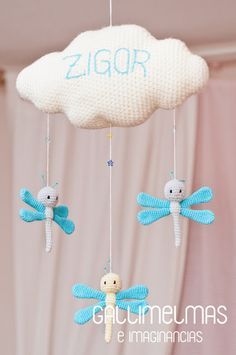 Un móvil con libélulas para el pequeño Zigor ❤   Gallimelmas e Imaginancias