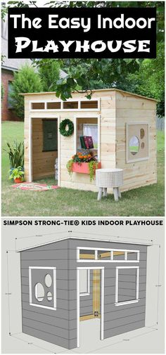 The Easy Indoor Playhouse DIY Playhouse Ideas For Your Kids #buildachildrensplayhouse