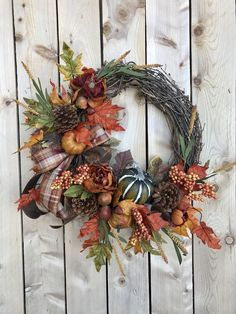 Excited to share this item from my shop: Fall Pumpkin Wreath,Pumpkin Wr. Diy Fall Wreath, Autumn Wreaths, Christmas Wreaths, Pumpkin Decorating, Porch Decorating, Xmax, Pumpkin Wreath, Fall Pumpkins, Fall Crafts