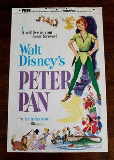 Vintage Walt Disney's Peter Pan Peanut Butter Promo Poster 1958 on Etsy, $24.00