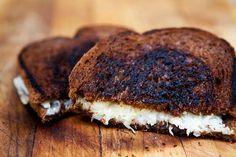 Grilled Cheese Sandwich with Sauerkraut on Rye ~ Grilled cheese sandwich recipe with Gruyere Swiss cheese and sauerkraut on rye bread.  ~ SimplyRecipes.com