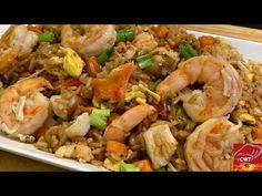 Seafood Fried Rice Recipe   King Crab Legs, Lobster & Shrimp Fried Rice - YouTube Lobster Fried Rice Recipe, Crab And Shrimp Recipe, Seafood Fried Rice, Shrimp And Lobster, Seafood Dishes, Shrimp Recipes, Appetizer Recipes, Yellow Rice Recipes, Crab Fries