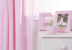 Pink Gingham Curtains with Full Lining