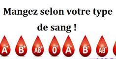 Comment manger selon votre type de sang noté 5 - 2 votes Certains experts affirment que chaque personne a sa propre manière de réagir à des aliments et cette réaction est reliée au type de sang. Selon eux, les lectines, les protéines ou les hydrates de carbone, affectent le sang de différentes manières. Leur hypothèse...